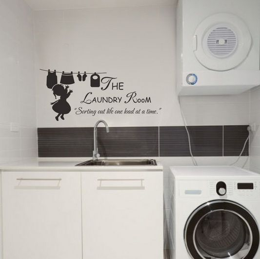 Inexpensive Laundry Room Makeovers With Sticker Wall Art | Decolover.net Part 65