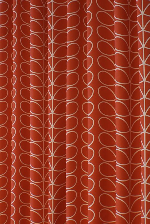 Linear Stem Tomato Curtain Fabric Orla Kiely Curtainscurtain