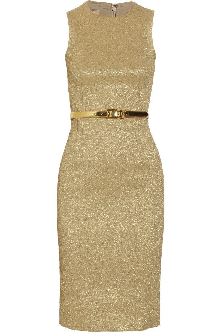 Belted brocade dress by Michael Kors