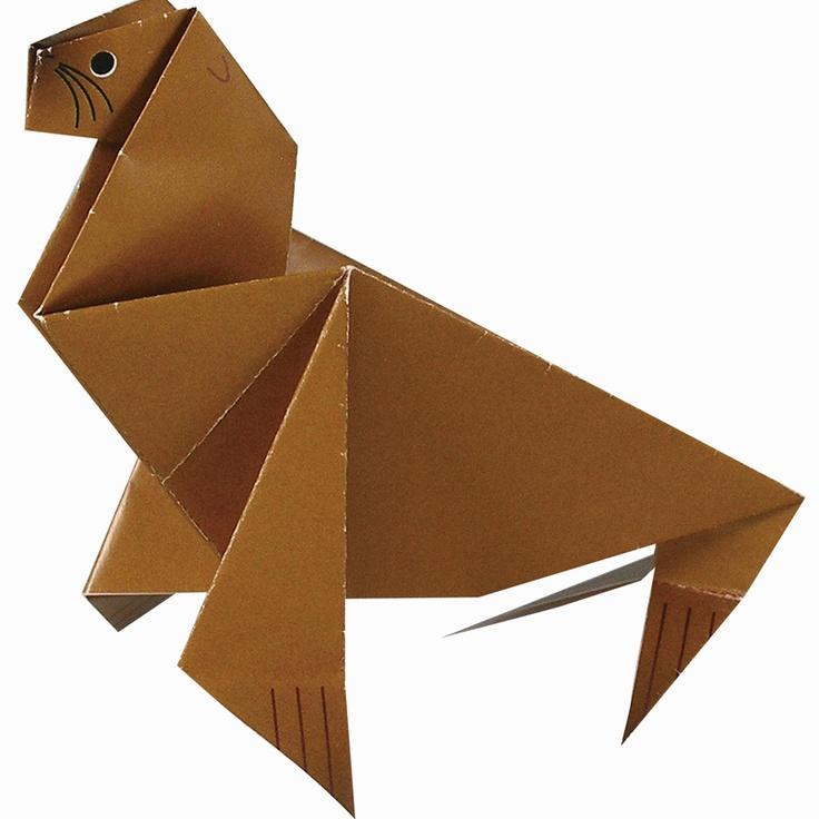 Origami (Sea Lion) http://www.artec-educational.com/origami-craft-book-3-%C2%81lets-go-to-the-aquarium/