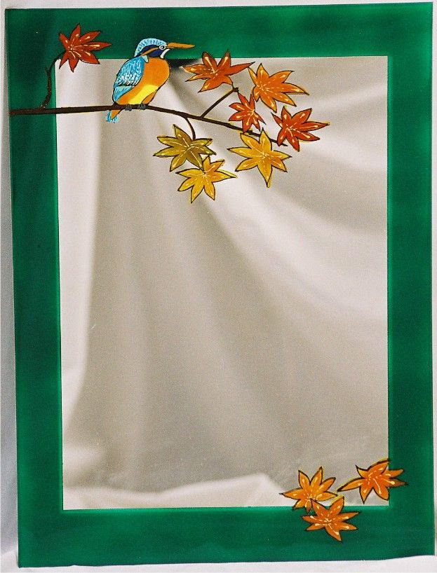 Painted mirror (fall)