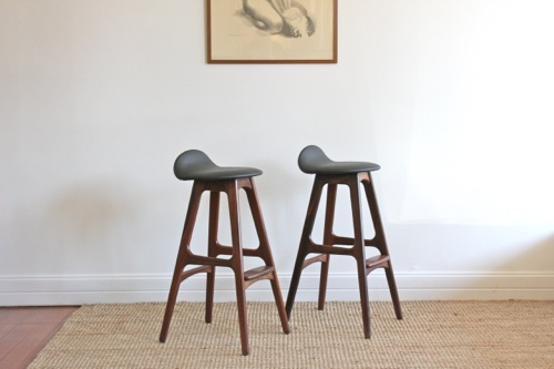 Rosewood Bar Stools Eric Buch Pair Of Original Bar