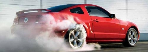 2009 Mustang GT burnout!