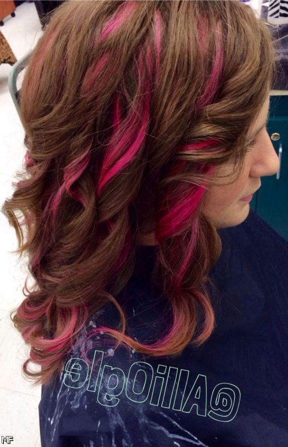 Wpid Pink Highlights In Light Brown Hair 2015
