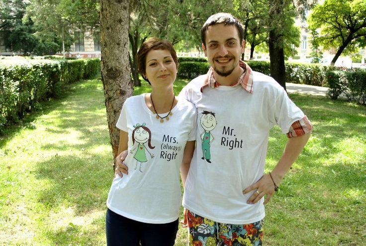 Paula si Vlad: sedinta foto cu tricouri personalizate