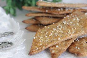 CookieCrumble: Sprøde Speltknækbrød med surdej