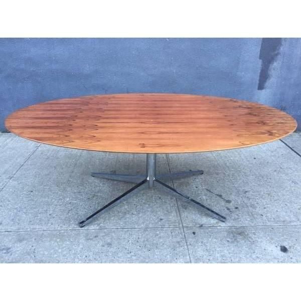 Florence Knoll Oval Table Desk In Rosewood