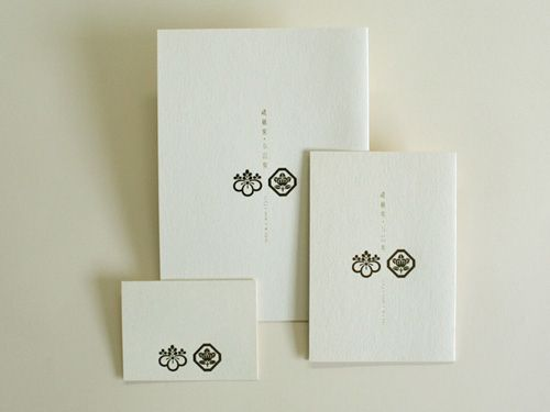 ROKKAKU wedding invitation 家紋入り