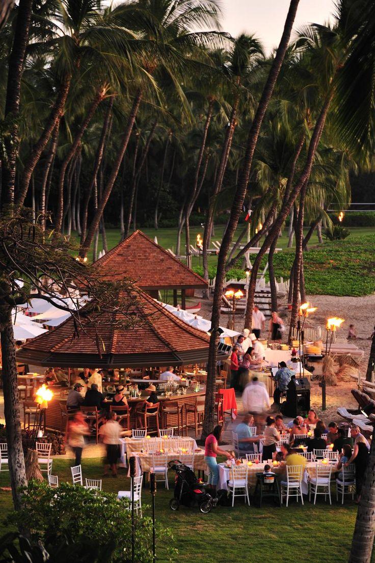 Beach party at Mauna Kea, Hawaii