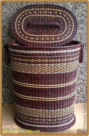 Поделка изделие Плетение Июнь Бумага газетная Картон Трубочки бумажные фото 18
