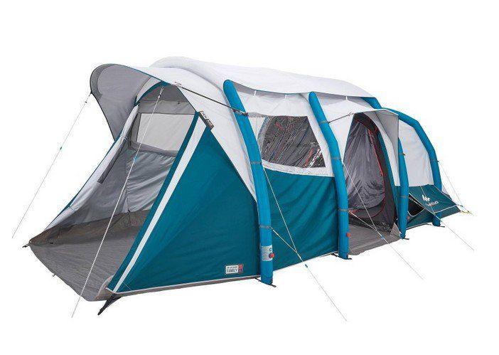 Tente De Camping Air Seconds Family 6 3 Xl Fresh Black I Quechua Tente Decathlon Iziva Com Tente Gonflable Tente Camping Familiale Camping Tente
