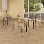 $412.99  Coaster Furniture - 3 Piece Occasional Table Sets 3-Piece Contemporary Glass Top Occasional Table Set - 701559