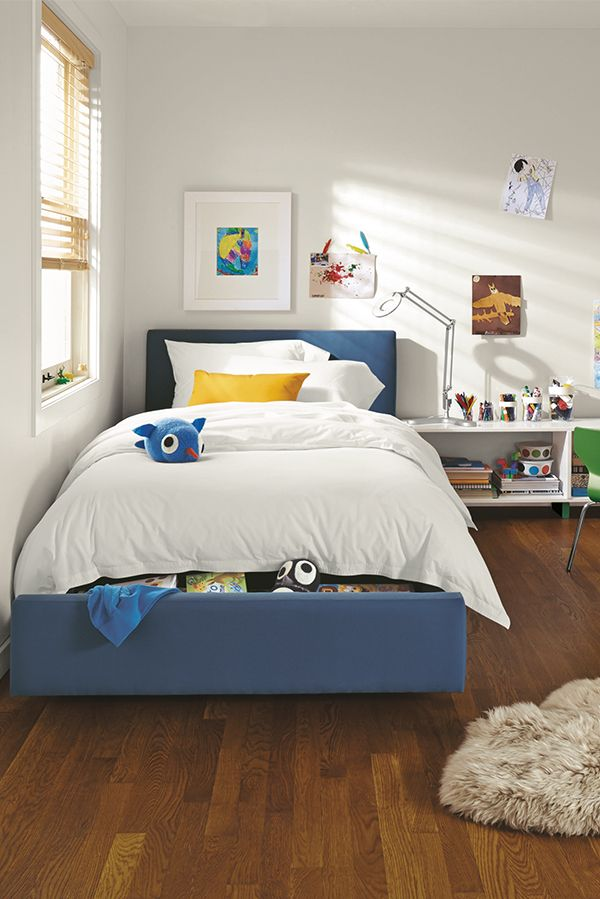 Wyatt Bed With Storage Drawer In Kids Modern Beds Modern Kids