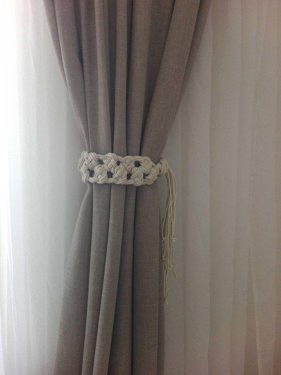 Macrame Curtain Tie Backs 2 Pcs Cotton Rope Curtain Tie Backs