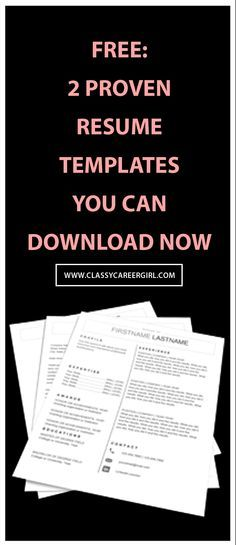 Save Time, Get Your Dream Job Simple Resume Templates You Can Populate In 20 Minutes  http://www.classycareergirl.com/resumetemplates
