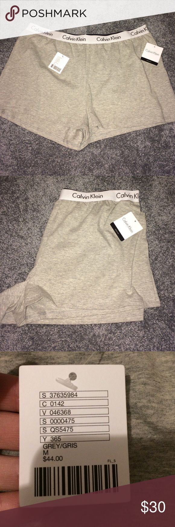 ✨LAST CHANCE SALE✨ Grey Calvin klein sleep shorts Nwt grey Calvin Klein sleep shorts. Size medium. Has the iconic thick waistband. Soft comfy cotton material. Super popular right now! Wish these fit I need a small. Calvin Klein Underwear Intimates & Sleepwear Pajamas