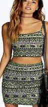 boohoo Aztec Cropped Mini Skirt Co Ord - neon-yellow Quit clashing and keep it matchy matchy in co-ords for maximum style kudos. Go print perfect in an Aztec print bandeau top and skirt duo, or dare to do double denim in a jacket and high waisted shorts http://www.comparestoreprices.co.uk/skirts/boohoo-aztec-cropped-mini-skirt-co-ord--neon-yellow.asp