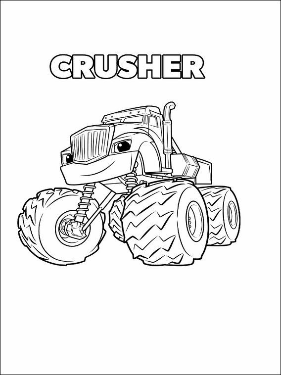 Blaze And The Monster Machines Printable Coloring Book 3 With