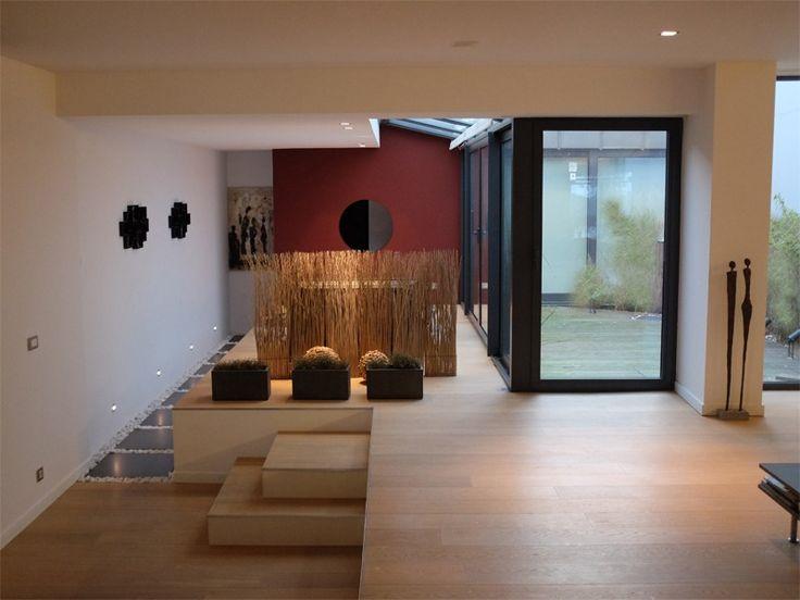 Rénovation totale • loft • intérieur moderne • niveau • patio • architecte nathalie strapart
