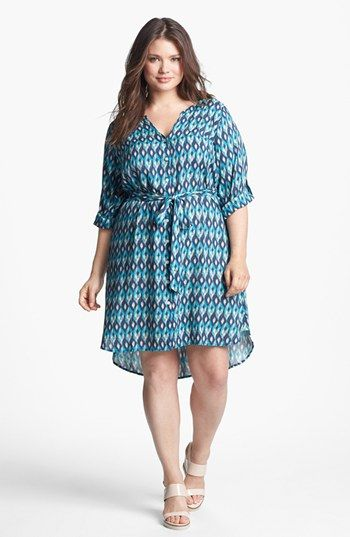 Lucky Brand 'Vailea' Print Shirtdress (Plus Size) available at #Nordstrom