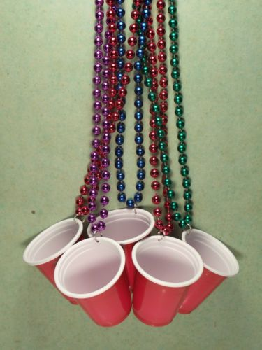 Details about LOT of TWO >Red Solo Cup Necklaces>Shot Glass>Toby Keith>Mardi…