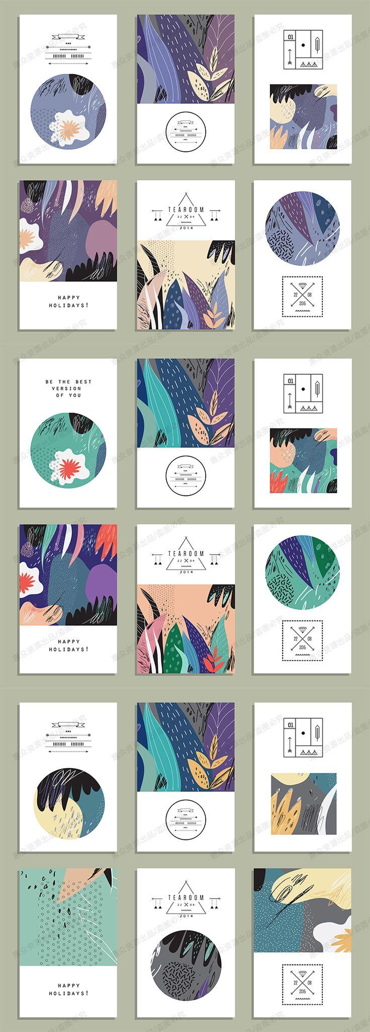 日系森女小清新花朵花草杂志书籍封面贺卡明信片广告印刷矢量素材-淘宝网