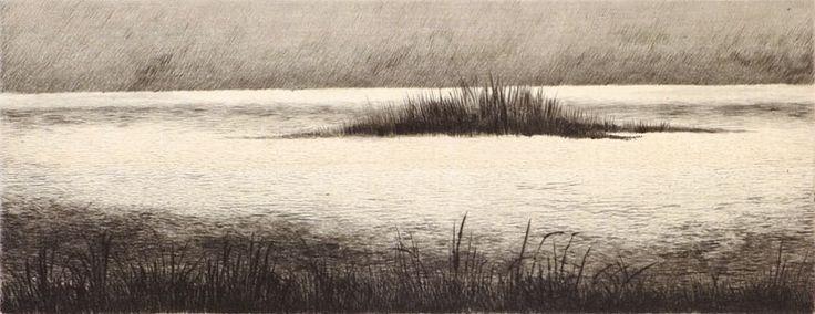 Shigeki Tomura. The Sound of Water, 1985. Intaglio. Edition HC 1/5. 2-3/4 x 7 inches. $250