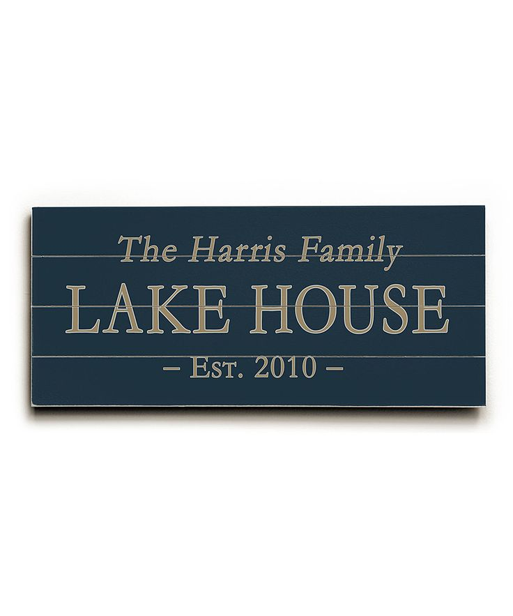 Lake House Personalized Wall Sign