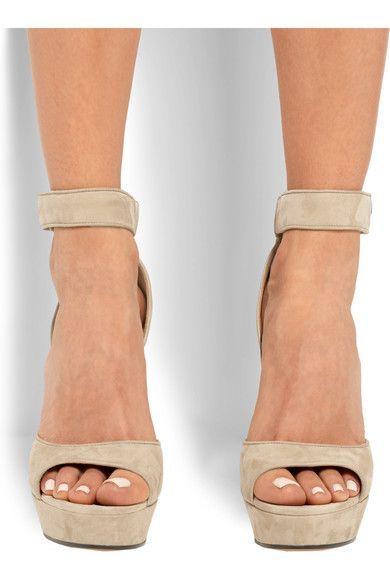 0df97cd7fbb GIVENCHY sleek Shark Lock suede platform sandals  platformsandals ...