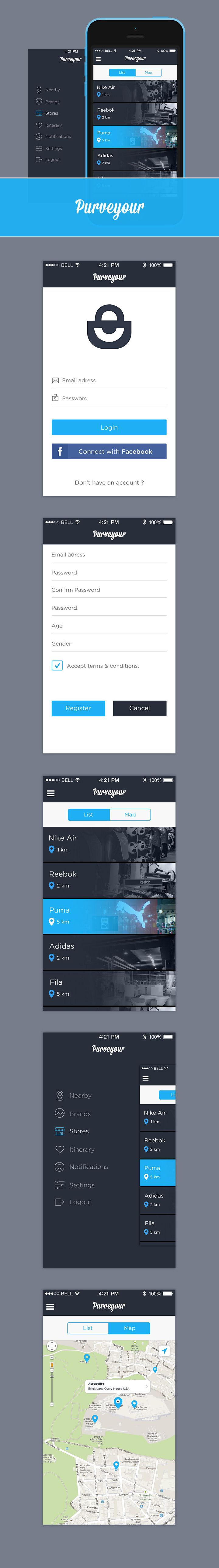 Purveyour Mobile UI