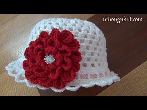 How to crochet a hat - Pattern 7 (engsub) - YouTube
