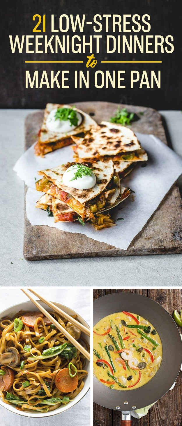 21 Low-Stress Weeknight Dinners To Make In One Pan