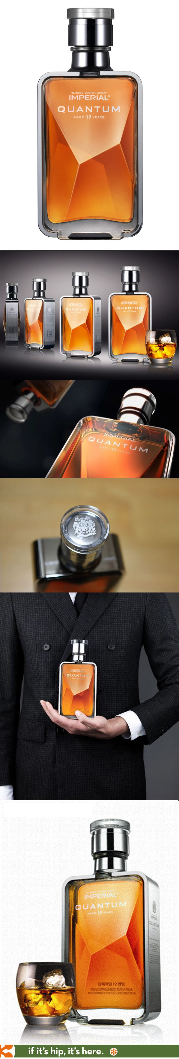 Pernod Ricard's Imperial Quantum 19 Year Old Whiskey is in a beautiful bottle. Spirit mxm