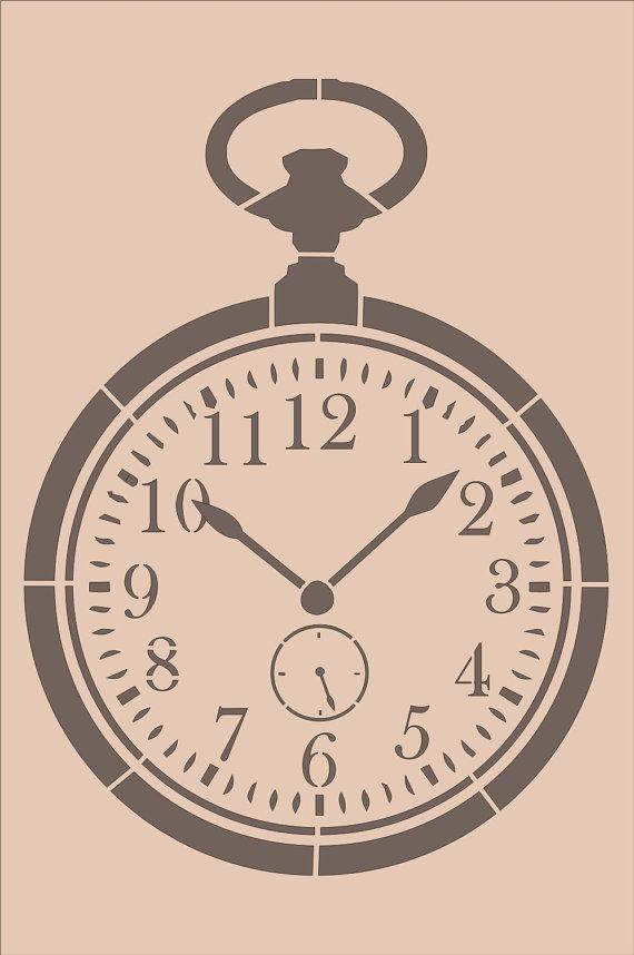 Plantillas bolsillo Vintage reloj reloj por SuperiorStencils