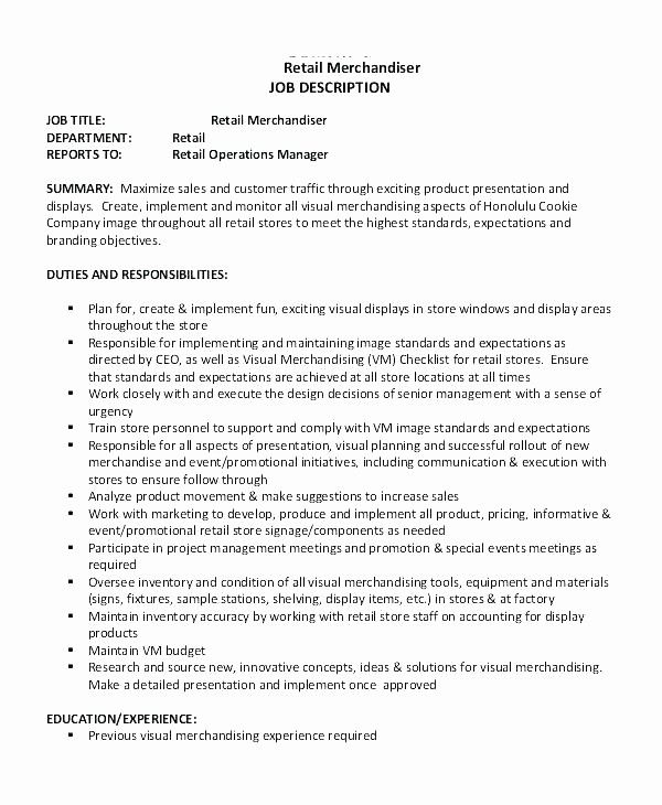 Beautiful Visual Merchandising Job Description Associate Job Description Template Job Description Merchandising Jobs