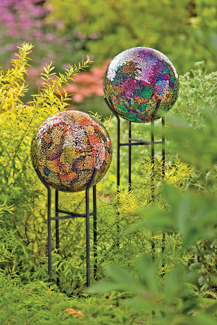94 best GAZING BALLS..... images on Pinterest | Garden art, Garden ...