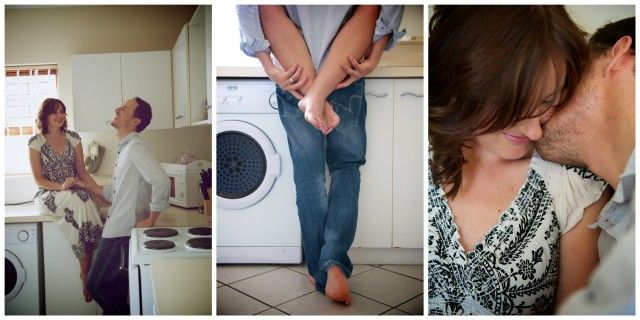 cute in-home engagement session...would rather somewhere else than laundry room, haha