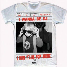 I wanna be a DJ T-shirt on sale soon at www.hennie-t.com