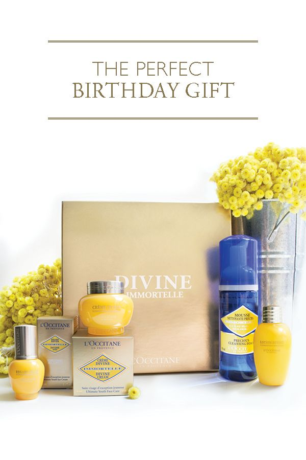 Need the perfect birthday gift for her? Give the gift of glowing, youthful and radiant skin with our Divine Youth Collection. Enriched with organic Immortelle essential oil to provide unique anti-aging benefits, this gift set is ideal for your mom, wife, girlfriend, daughter or any special woman in your life.