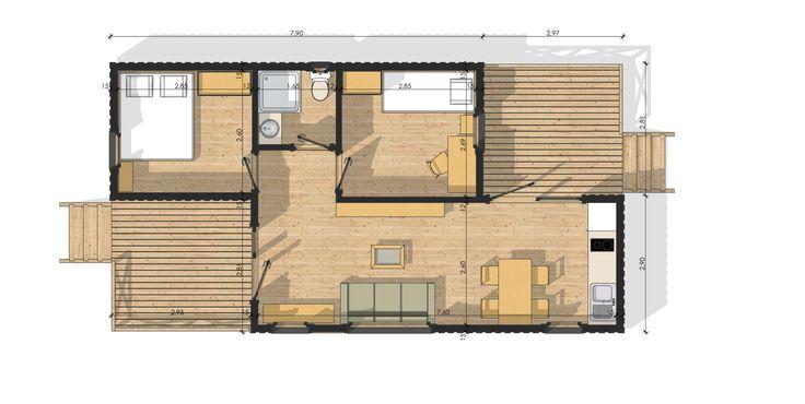 les 9 meilleures images du tableau maison modulaire habitable sur pinterest habitats maison. Black Bedroom Furniture Sets. Home Design Ideas