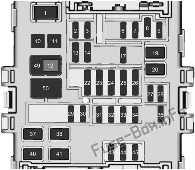 Instrument Panel Fuse Box  1 Diagram  Chevrolet Silverado