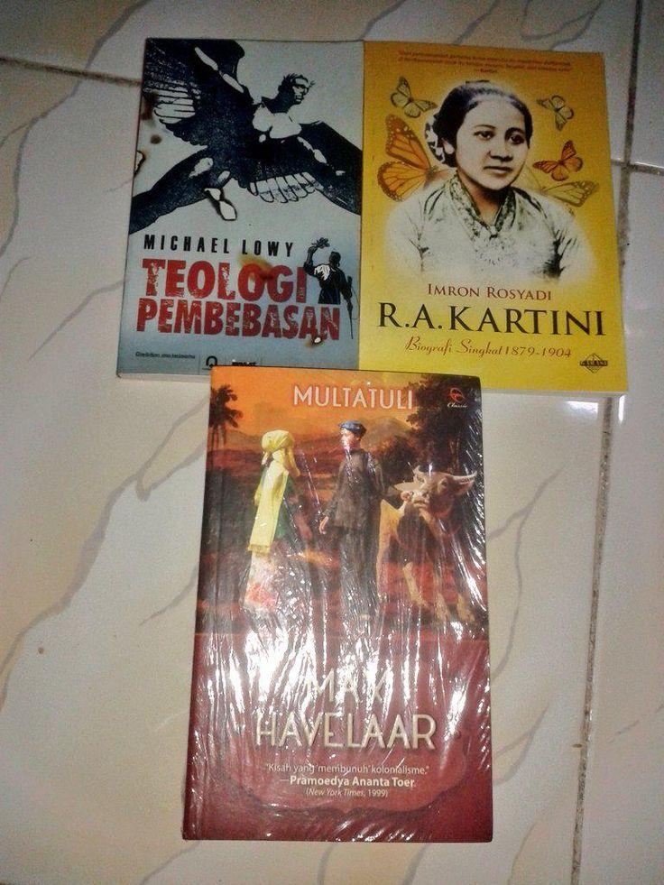 3 buku | Teologi Tembebasan,  R.A Kartini, dan Max Havellar | harga 150 | pesan sms/wa 089679849546 | stok cuma 1