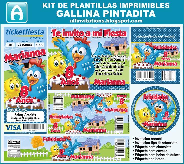 Kit imprimible de la Gallina Pintadita