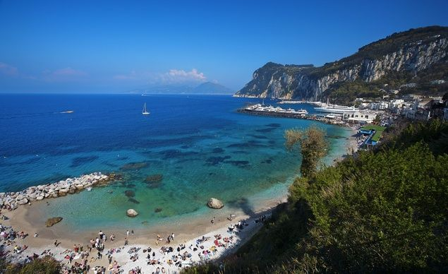 Capri, Italy: When the ancient Romans went on vacation, they went all out, embarking on grand tours of important sites%u2014including Greece and Egypt%u2014that could last up to five years. The journeys would often start closer to home, though, with a first stop at the seaside resorts in Italy. (From: 10 Gorgeous & LEGENDARY Beaches!)