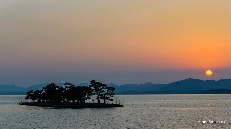 Sunset, lake Shinji, Matsue