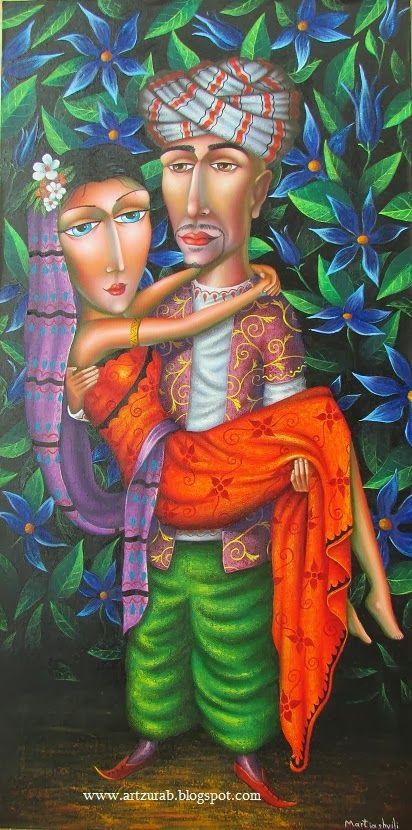 "Artist Zurab Martiashvili,""Oriental Night"" 50x100 canvas  oil  2014"