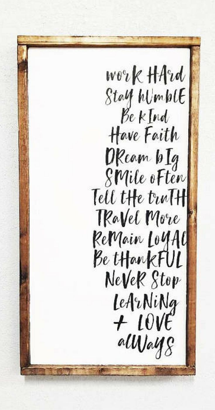 Work Hard Stay Humble Be Kind | Farmhouse Sign | Modern Farmhouse sign wall decor| Farmhouse Decor | Rustic Decor | Rustic Sign | Kids Room Decor | Living room Sign | home decor #ad