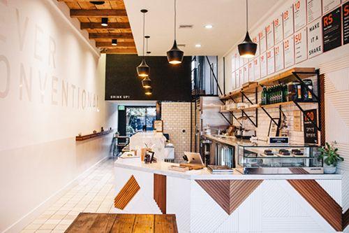 A California juice bar I want to live in...forever #interiors #juicebar #california #scandinavian