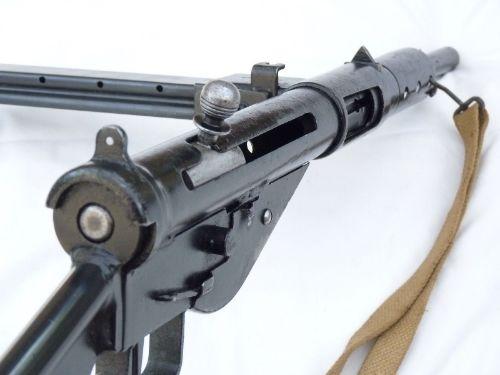 Sten mk2 9mm submachine gun, British made with sliding cocking-handle