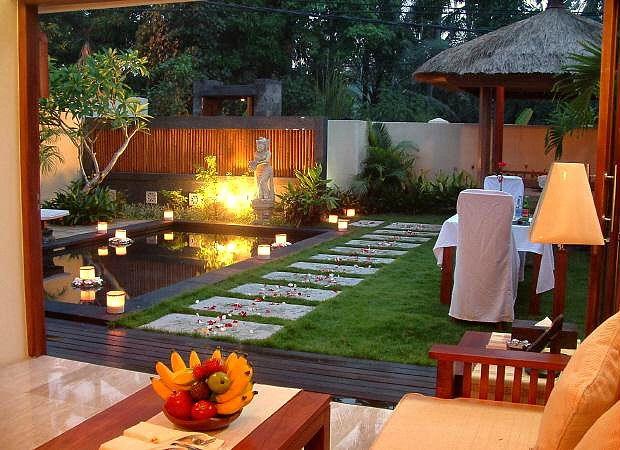 Bali Baliku Luxury Villa Living Dining Room Bali Garden Balinese Garden Backyard